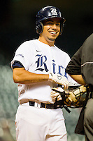Anthony Rendon #23 of the Rice Owls shares a laugh with the home plate umpire during the game against the Kentucky Wildcats at Minute Maid Park on March 4, 2011 in Houston, Texas.  Photo by Brian Westerholt / Four Seam Images