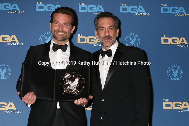 LOS ANGELES - FEB 2:  Bradley Cooper, Todd Phillips at the 2019 Directors Guild of America Awards at the Dolby Ballroom on February 2, 2019 in Los Angeles, CA