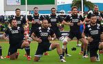 (back row) Otere Black, Jacob Skeen, Joe Edwards, Tawera Kerr-Barlow, Joe Moody, (front) Brendon Edmonds, Matt Proctor, Jamison Gibson-Park. Maori All Blacks vs. Fiji. Suva. MAB's won 27-26. July 11, 2015. Photo: Marc Weakley