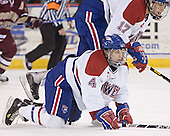 Kelly Sullivan, Brad King - The University of Massachusetts-Lowell River Hawks defeated the Boston College Eagles 6-3 on Saturday, February 25, 2006, at the Paul E. Tsongas Arena in Lowell, MA.