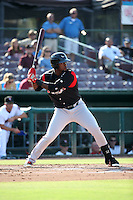 Franmil Reyes (34) of the Lake Elsinore Storm bats against the Inland Empire 66ers at San Manuel Stadium on July 31, 2016 in San Bernardino, California. Inland Empire defeated Lake Elsinore, 8-7. (Larry Goren/Four Seam Images)