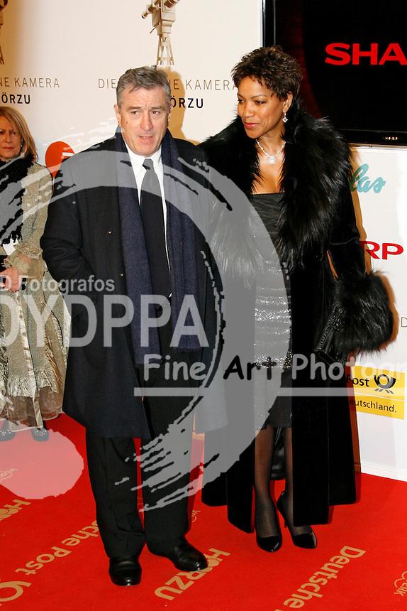 Actor Robert De Niro and wife Gattin Grace Hightower attend the 43rd Golden camera Award / 43. Verleihung der Goldenen Kamera at Axel Springer Verlagshaus, Berlin