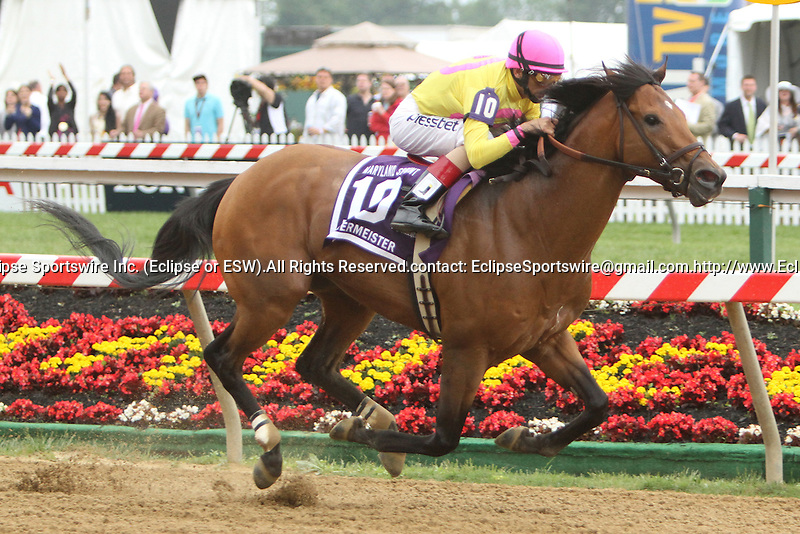 Sage Valley with John Velazquez win the 27th  running 0f the Grade III Maryland Sprint Handicap for 3-year olds & up, going 6 furlongs, at Pimlico Race Course.  Trainer Rudy Rodriguez.  Owners Michael Dubb