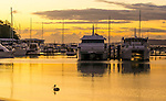 Nelson Bay Marina at Sunset. Port Stephens, NSW, Australia