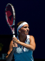 GISELA DULKO (ARG) against MARIA SHARAPOVA (RUS) in the first round of the women's Singles. Maria Sharapova beat Gisela Dulko  6-0 6-1 ..17/01/2012, 17th January 2012, 17.01.2012..The Australian Open, Melbourne Park, Melbourne,Victoria, Australia.@AMN IMAGES, Frey, Advantage Media Network, 30, Cleveland Street, London, W1T 4JD .Tel - +44 208 947 0100..email - mfrey@advantagemedianet.com..www.amnimages.photoshelter.com.