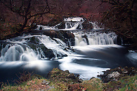 The Avich Falls and the River Avich near Dalavich, Argyll & Bute