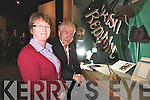 Helen O'Carroll and Minister Jimmy Deenihan with the Sword and hat which belonged to Sir Roger Casement which is now on display in Kerry county Museum.