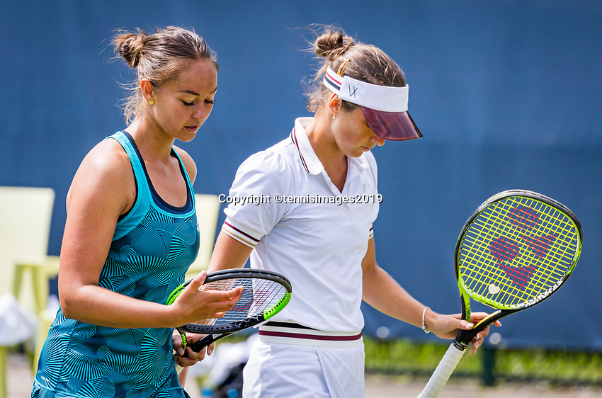 Rosmalen, Netherlands, 13 June, 2019, Tennis, Libema Open, Womans doubles: Lesley Kerkhove (NED) and Bibiane Schoofs (NED) (R)<br /> Photo: Henk Koster/tennisimages.com