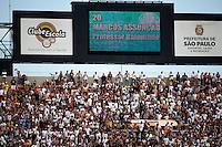 SAO PAULO, SP, 25 DE MARCO DE 2012 - CAMP. PAULISTA CORINTHIANS X PALMEIRAS - Painel mostra escalacao do Palmeiras onde abaixo do nome aparece nome de personagens vividos por Chico Anysio momentos antes da partida contra o Corinthians em partida valida pela 15 rodada do Campeonato Paulista, no Estadio Paulo Machado de Carvalho (Pacaembu), neste domingo. 25. (FOTO: WILLIAM VOLCOV / BRAZIL PHOTO PRESS).