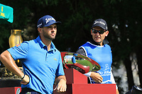 Adri Arnaus (ESP), Adri Arnaus (ESP) and caddie Ignacio Garrido during the first round of the Ras Al Khaimah Challenge Tour Grand Final played at Al Hamra Golf Club, Ras Al Khaimah, UAE. 31/10/2018<br />