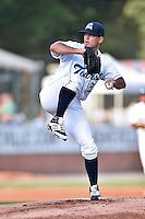 Asheville Tourists starting pitcher Helmis Rodriguez (33) delivers a pitch during the South Atlantic League All Star Game on June 23, 2015 in Asheville, North Carolina. The North Division defeated the South 7-5(Tony Farlow/Four Seam Images)