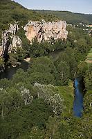 Europe/France/Midi-Pyrénées/46/Lot/Env de Saint-Cirq-Lapopie/Bouziés: La vallée du Lot et le défilé des Anglais