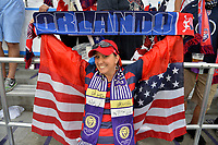Orlando, FL - Friday Oct. 06, 2017: USA supporters during a 2018 FIFA World Cup Qualifier between the men's national teams of the United States (USA) and Panama (PAN) at Orlando City Stadium.