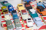 Antique shop window display of Lido toy cars, Dordrecht, Netherlands