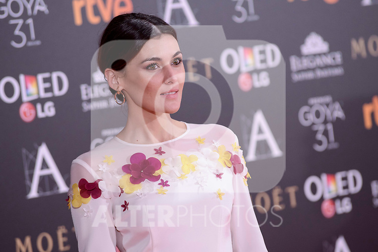 Marta Nieto attends to the Red Carpet of the Goya Awards 2017 at Madrid Marriott Auditorium Hotel in Madrid, Spain. February 04, 2017. (ALTERPHOTOS/BorjaB.Hojas)
