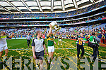 Marc O'Se . Kerry players celebrate their victory over Donegal in the All Ireland Senior Football Final in Croke Park Dublin on Sunday 21st September 2014.