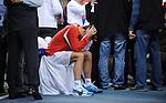 TENIS, BEOGRAD, 05. Dec. 2010. -  Viktor Troicki. Teniseri Srbije pobednici su Davis cupa za 2010. godinu. Finale Davis cup-a izmedju selekcija Srbije i Francuske koje se igra od 3-5 decembra u beogradskoj Areni. Davis cup final Serbia vs France. Foto: Nenad Negovanovic