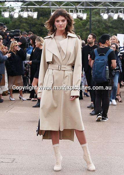 14 MAY 2017 SYDNEY AUSTRALIA<br /> WWW.MATRIXPICTURES.COM.AU<br /> <br /> NON EXCLUSIVE PICTURES<br /> <br /> MERCEDES-BENZ FASHION WEEK AUSTRALIA RESORT 18 COLLECTIONS<br /> <br /> MERCEDES-BENZ PRESENTS DION LEE <br /> <br /> RED CARPET ARRIVALS &amp; RUNWAY SHOW.  <br /> <br /> <br /> Note: All editorial images subject to the following: For editorial use only. Additional clearance required for commercial, wireless, internet or promotional use.Images may not be altered or modified. Matrix Media Group makes no representations or warranties regarding names, trademarks or logos appearing in the images.