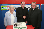 Bridie Byrne with Fr.Martin and incoming priest Fr. John McAlinden at the retirement party for Fr. Martin Kenny in Mell NS...Photo NEWSFILE/Jenny Matthews.(Photo credit should read Jenny Matthews/NEWSFILE)....This Picture has been sent you under the condtions enclosed by:.Newsfile Ltd..The Studio,.Millmount Abbey,.Drogheda,.Co Meath..Ireland..Tel: +353(0)41-9871240.Fax: +353(0)41-9871260.GSM: +353(0)86-2500958.email: pictures@newsfile.ie.www.newsfile.ie.FTP: 193.120.102.198.