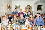 Margaret Buckley from Lixnaw celebrating her 60th birthday with family on Saturday night at Bella Bia's . Front l-r Aisling Curran, Aidan Horgan, Tara Buckley, Margaret Buckley, Elva May Horgan, Donnacha Horgan, Ann Marie Horgan and Colm Horgan. Back l-r  Colm Curran, Denis Buckley and Gary Galway