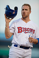 Buffalo Bisons Patrick Kivlehan (14) during an International League game against the Syracuse Mets on June 29, 2019 at Sahlen Field in Buffalo, New York.  Buffalo defeated Syracuse 9-3.  (Mike Janes/Four Seam Images)