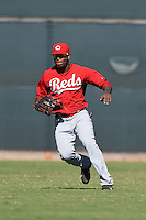 Cincinnati Reds outfielder Reydel Medina (35) during an Instructional League game against the Kansas City Royals on October 14, 2014 at Goodyear Training Complex in Goodyear, Arizona.  (Mike Janes/Four Seam Images)