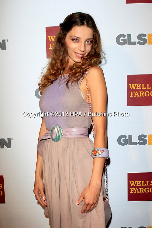 LOS ANGELES - OCT 5:  Angela Sarafyan arrives at the 8th Annual GLSEN Respect Awards at Beverly Hills Hotel on October 5, 2012 in Beverly Hills, CA