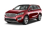 2016 KIA Sorento SX AT 5 Door SUV Angular Front stock photos of front three quarter view