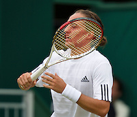 28-06-13, England, London,  AELTC, Wimbledon, Tennis, Wimbledon 2013, Day five, Alexandr Dolgopolov (UKR)<br /> <br /> <br /> <br /> Photo: Henk Koster
