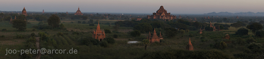 sunset view from Shesandaw-Pagode, Bagan, Myanmar, 2011