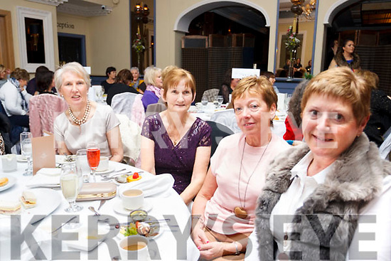 Attending the Radio Kerry TalkAbout Christmas Afternoon Tea Party in the Ballygarry House Hotel on Sunday last are, L to R: Mary Foley, Helen Evans, Angela O'Sullivan and Phil Daly.