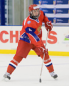 Stanislav Kalashnikov (Russia - 4) - Russia defeated Finland 4-0 at the Urban Plains Center in Fargo, North Dakota, on Friday, April 17, 2009, in their semi-final match during the 2009 World Under 18 Championship.