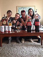 Pictured: Bradley Presbury (2nd L), image taken from his open facebook account.<br /> Re: Two young men accused of animal cruelty and bestiality offences which allegedly took place in Nimbin, Australia 10 days ago have been formally refused bail in the Lismore Local Court.<br /> Both men were on parole at the time of the alleged offences, which made a successful bail application unlikely.<br /> Bradley Presbury, 20 and Reece Parke, 22, allegedly raped a pig and killed several chickens.<br /> Both men are charged with two counts of torturing, beating, and causing the death of an animal, and one count of bestiality.<br /> Police initially refused the pair bail last night after they were arrested at their Teven residence and charged.<br /> The charge of bestiality carries a maximum penalty in NSW of 14 years' imprisonment.