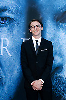 "LOS ANGELES - JUL 12:  Isaac Hempstead Wright at the ""Game of Thrones"" Season 7 Premiere Screening at the Walt Disney Concert Hall on July 12, 2017 in Los Angeles, CA"