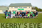 The Na Gael former Footballer who came together to play a Fundraising match to raie noney for the Fele Team on Saturday evening at Na Gael GAA Club,Tralee and invited Marc O Se to ref the game