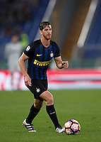 Calcio, Serie A: Roma vs Inter. Roma, stadio Olimpico, 2 ottobre 2016.<br /> FC Inter's Cristian Ansaldi in action during the Italian Serie A football match between Roma and FC Inter at Rome's Olympic stadium, 2 October 2016.<br /> UPDATE IMAGES PRESS/Isabella Bonotto