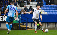 Bolton Wanderers' Liam Edwards (right) competing with Coventry City's Jordan Shipley <br /> <br /> Photographer Andrew Kearns/CameraSport<br /> <br /> The EFL Sky Bet Championship - Bolton Wanderers v Coventry City - Saturday 10th August 2019 - University of Bolton Stadium - Bolton<br /> <br /> World Copyright © 2019 CameraSport. All rights reserved. 43 Linden Ave. Countesthorpe. Leicester. England. LE8 5PG - Tel: +44 (0) 116 277 4147 - admin@camerasport.com - www.camerasport.com
