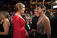 Allison Janney and Gal Gadot during the live ABC Telecast of The 90th Oscars&reg; at the Dolby&reg; Theatre in Hollywood, CA on Sunday, March 4, 2018.<br /> *Editorial Use Only*<br /> CAP/PLF/AMPAS<br /> Supplied by Capital Pictures