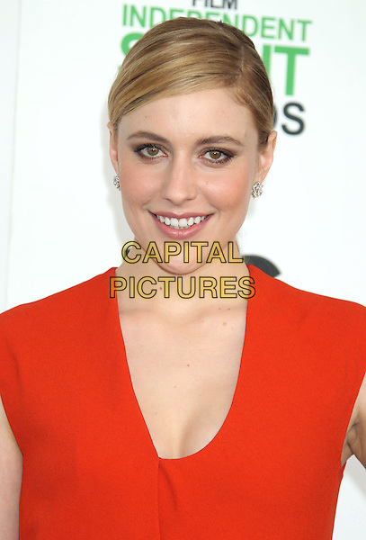 1 March 2014 - Santa Monica, California - Greta Gerwig. 2014 Film Independent Spirit Awards held at Santa Monica Beach. <br /> CAP/ADM/RE<br /> &copy;Russ Elliot/AdMedia/Capital Pictures