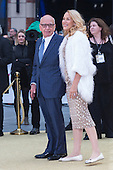 London, UK. 29 June 2016. Rupert Murdoch and Jerry Hall. World premiere of Absolutely Fabulous - the Movie in London's Leicester Square.