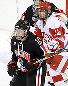 Sonia St. Martin (NU - 12), Jill Cardella (BU - 22) - The Northeastern University Huskies tied Boston University Terriers 3-3 in the 2011 Beanpot consolation game on Tuesday, February 15, 2011, at Conte Forum in Chestnut Hill, Massachusetts.