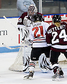 Alana Marcinko (Union - 29), Cassie Sperry (NU - 21), Jackie Koetteritz (Union - 24) -  - The Northeastern University Huskies defeated the Union College Dutchwomen 4-1 on Saturday, October 3, 2009, at Matthews Arena in Boston, Massachusetts.