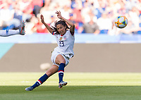 PARIS,  - JUNE 16: Christen Press #23 shoots during a game between Chile and USWNT at Parc des Princes on June 16, 2019 in Paris, France.