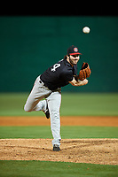 Chattanooga Lookouts relief pitcher John Curtiss (44) delivers a pitch during a game against the Jackson Generals on April 27, 2017 at The Ballpark at Jackson in Jackson, Tennessee.  Chattanooga defeated Jackson 5-4.  (Mike Janes/Four Seam Images)