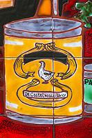 France, Aude (11),  Castelnaudary , détail d'une charcuterie - Maison Bouissou, Charrié Marc//France, Aude, Castelnaudary, detail delicatessen shop