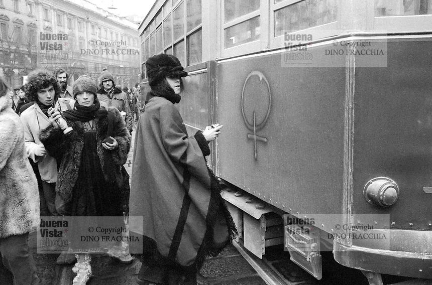 - Milano 1976, manifestazione femminista per il diritto all'aborto<br /> <br /> - Milan 1976 feminist demonstration for abortion rights