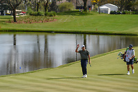 Francesco Molinari (ITA) makes his way to the green on 18 to the roar of the crowd during round 4 of the Arnold Palmer Invitational at Bay Hill Golf Club, Bay Hill, Florida. 3/10/2019.<br /> Picture: Golffile | Ken Murray<br /> <br /> <br /> All photo usage must carry mandatory copyright credit (© Golffile | Ken Murray)