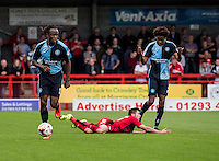 Marcus Bean of Wycombe Wanderers during the Sky Bet League 2 match between Crawley Town and Wycombe Wanderers at Checkatrade.com Stadium, Crawley, England on 29 August 2015. Photo by Liam McAvoy.