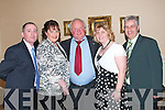 Enjoying Jimmy Deenihan's 25th Anniversary celebrations in The Listowel Arms Hotel on Friday night were, Mike and Corina Foley, Ballylongford, Ed Browne, Listowel with Breda and Darren Barden Ballylongford.  .   Copyright Kerry's Eye 2008