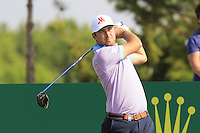 Daniel Brooks (ENG) tees off the 15th tee during Thursday's Round 1 of the 2016 Portugal Masters held at the Oceanico Victoria Golf Course, Vilamoura, Algarve, Portugal. 19th October 2016.<br /> Picture: Eoin Clarke   Golffile<br /> <br /> <br /> All photos usage must carry mandatory copyright credit (© Golffile   Eoin Clarke)
